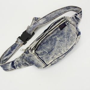 Vintage 80's Faded Jean Fanny Pack